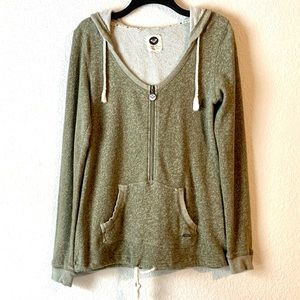 Roxy Hoodie Zippered Pullover Medium